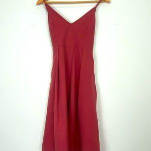 Women's maroon cocktail dress Size S